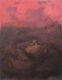 popocatepetl, olio su tela, 200 x 150cm.