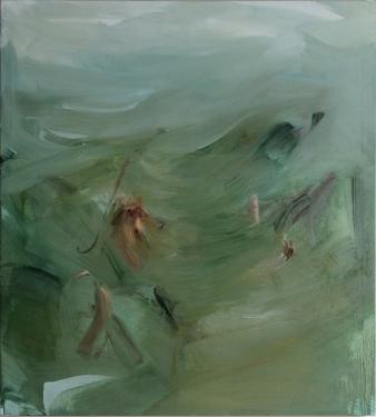 senza titolo, olio su tela, 100 x 96cm.